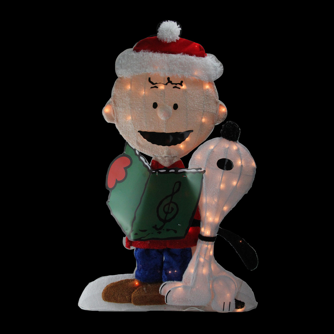 32 pre lit peanuts charlie and snoopy 2 d christmas outdoor decoration 32606681 - Snoopy Christmas Outdoor Decorations