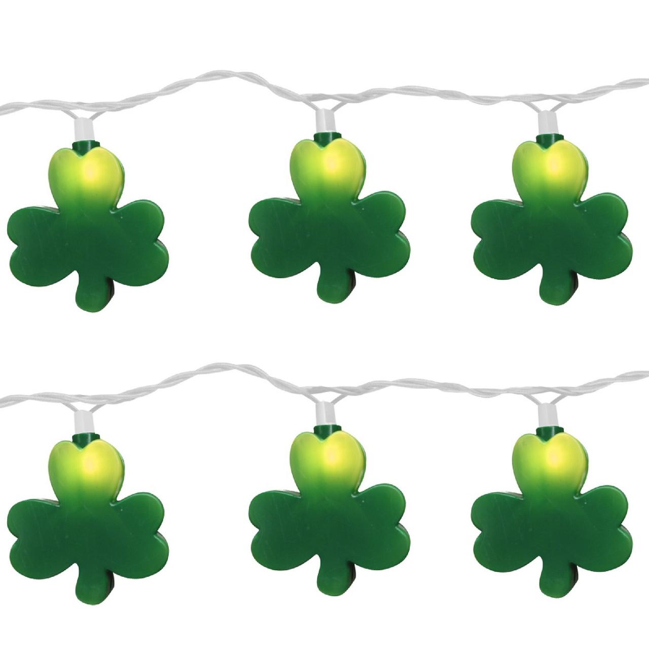 Set of 10 Irish St. Patrick\'s Clover Shamrock Novelty Christmas ...