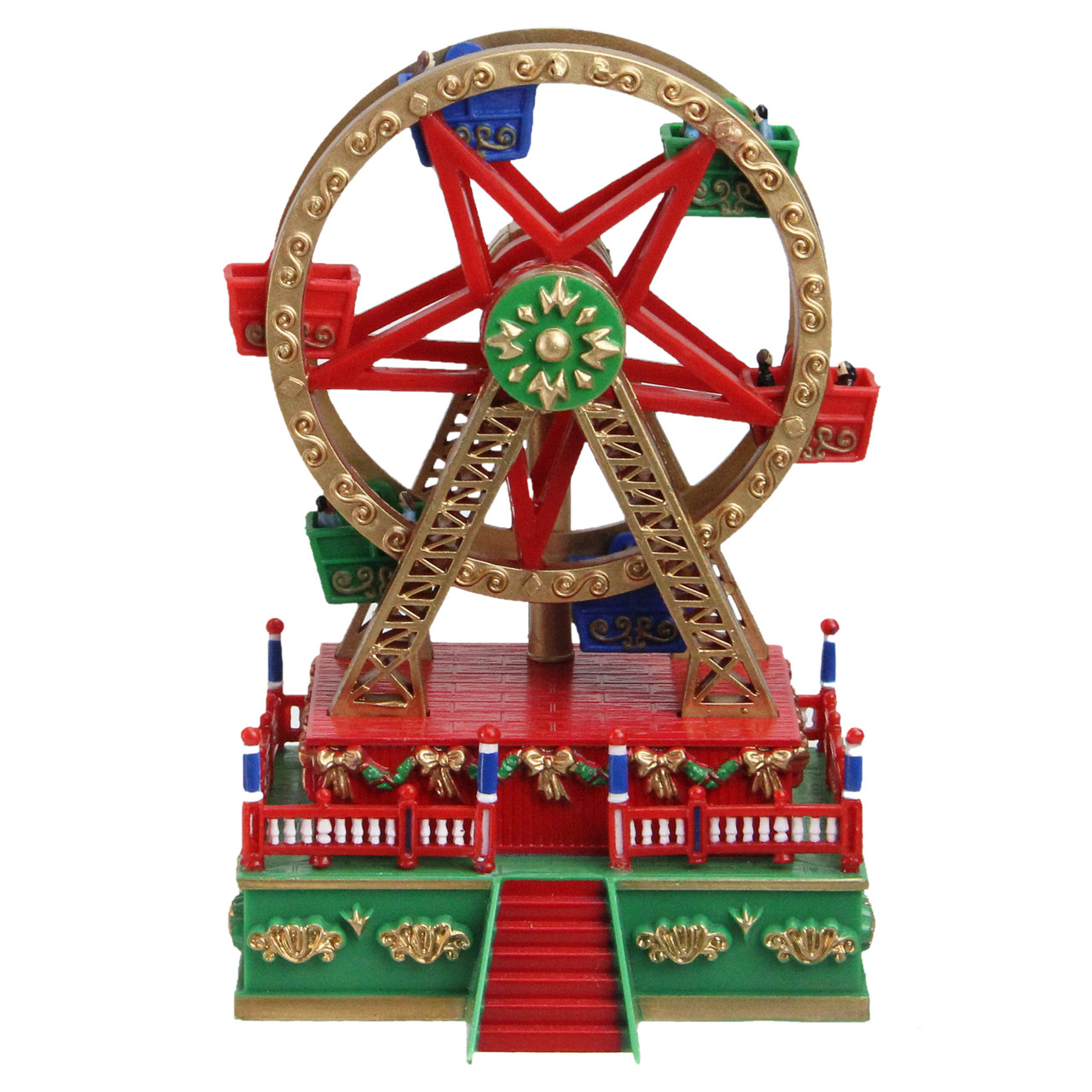 55 wound up mini carnival ferris wheel christmas table top decoration 32632752 - Christmas Ferris Wheel Decoration