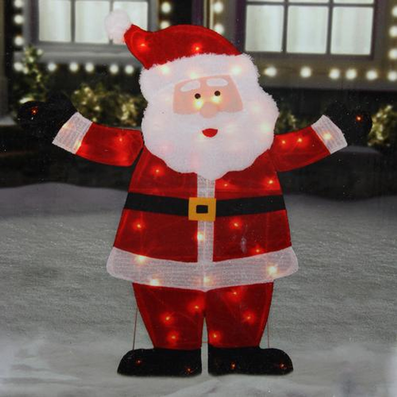 42 lighted jolly santa claus outdoor christmas decoration for Outdoor santa decorations