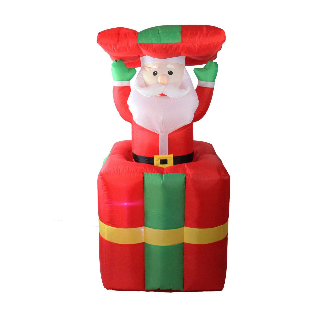 Superbe 5u0027 Lighted Inflatable Pop Up Santa Claus In Gift Box Christmas Outdoor  Decoration   32634955