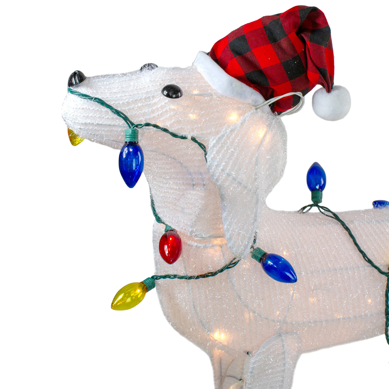 285 3 d standing decorative dog lighted christmas outdoor decoration 32634990 - Outdoor Lighted Dog Christmas Decorations