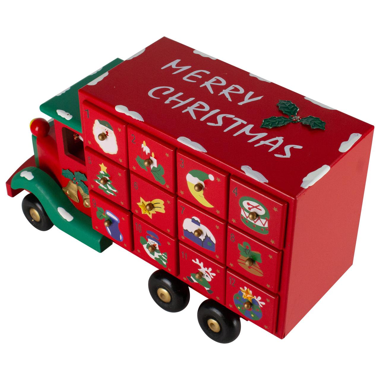 14 childrens advent calendar red storage truck christmas decoration 32634948