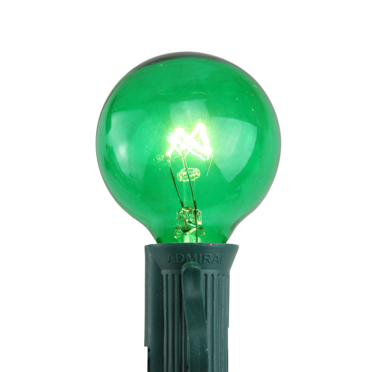pack of 25 incandescent g40 green christmas replacement bulbs 32633959 - Christmas Replacement Bulbs