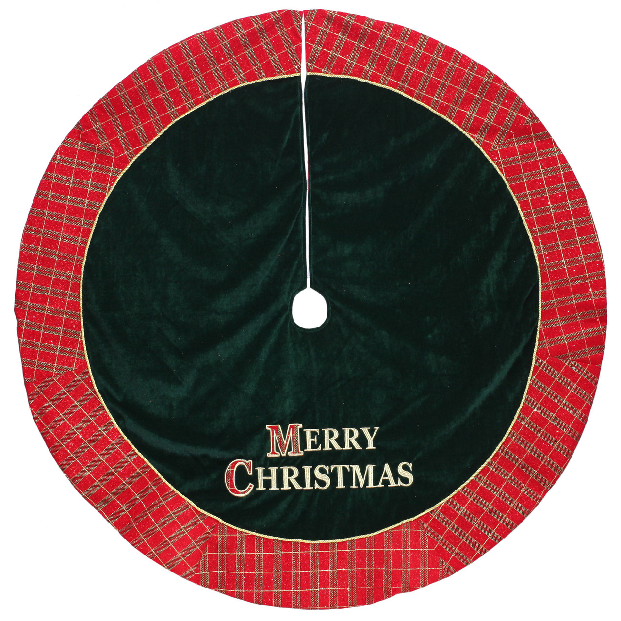 48 red and green merry christmas glitter plaid christmas tree skirt 32636950