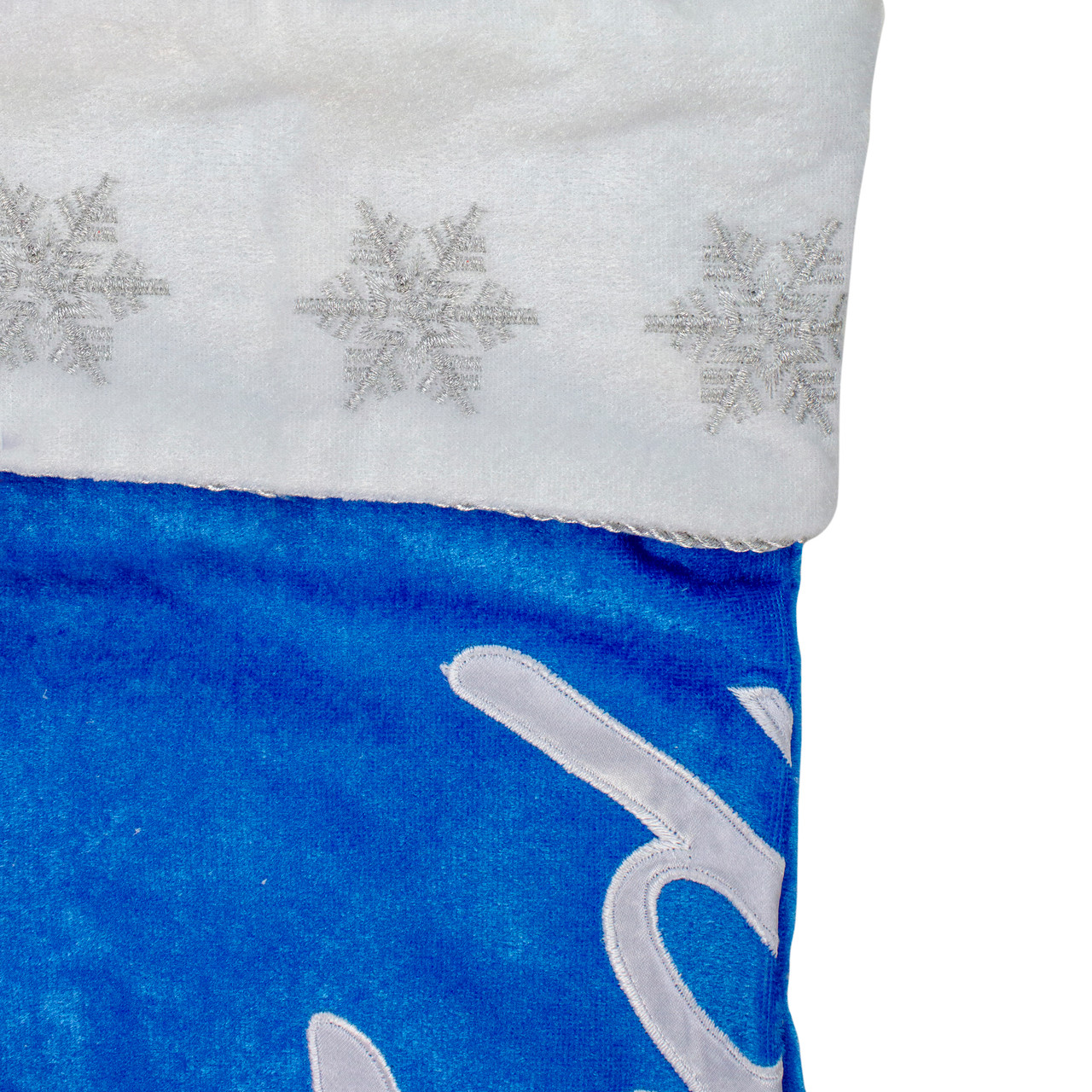 16 blue and white ford decorative christmas stocking 32637786 - Blue Christmas Stockings