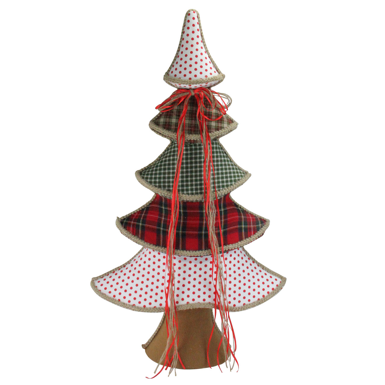 315 holiday moments red green and white whimsical christmas tree decoration 32637792