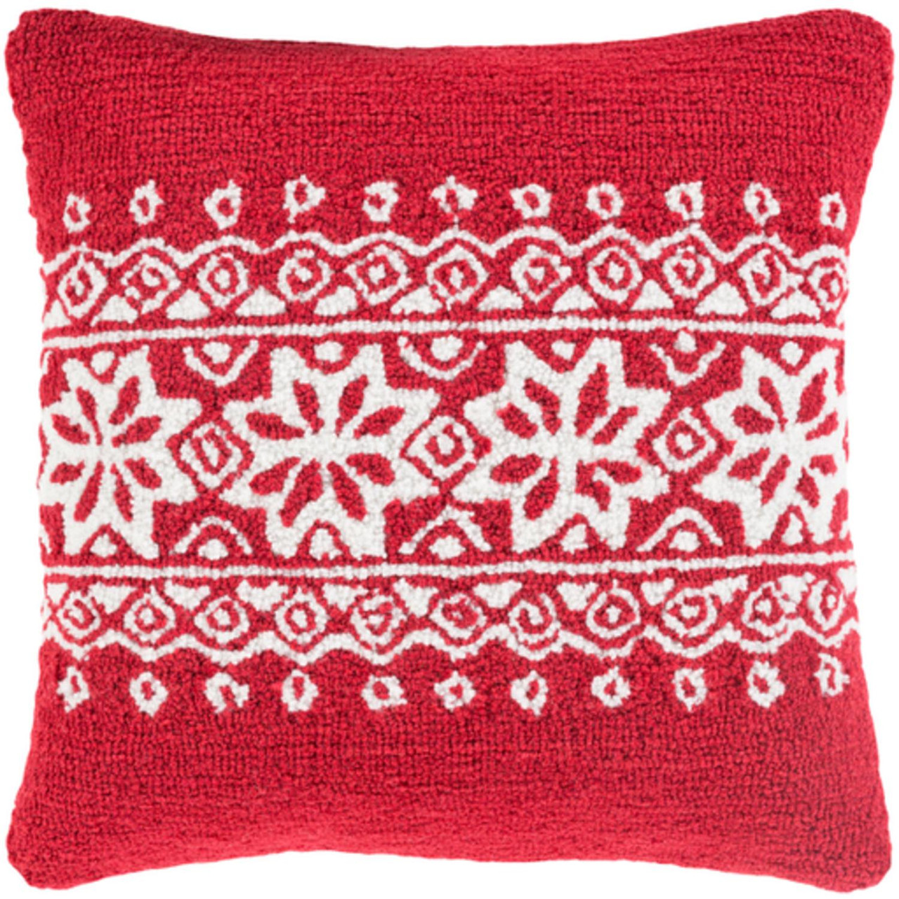 18 santa red and snowy white decorative snowflake christmas throw pillow cover 32635513 - Christmas Decorative Pillow Covers
