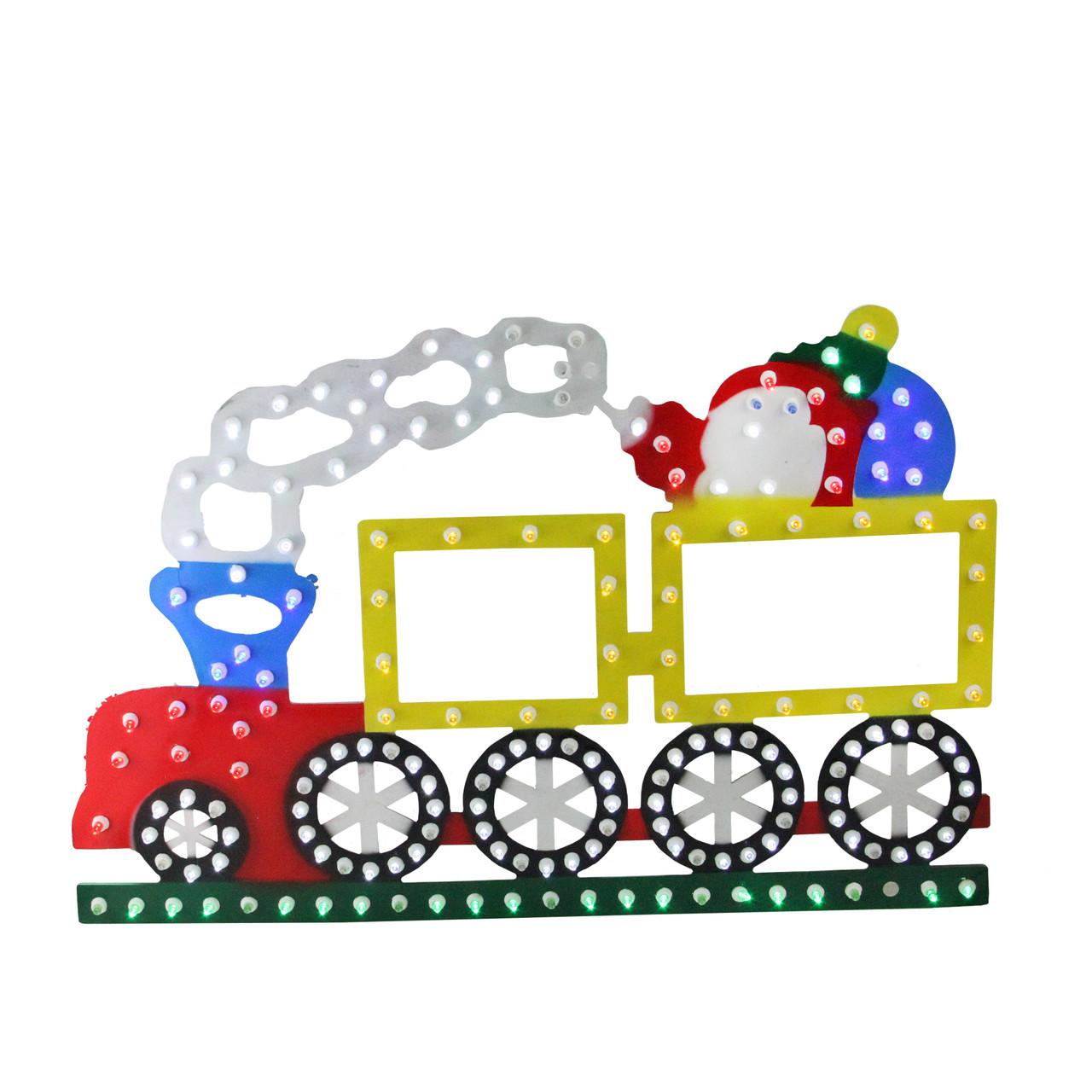 1225 lighted led multi color train christmas window silhouette decoration 32623461 - Lighted Train Christmas Decoration