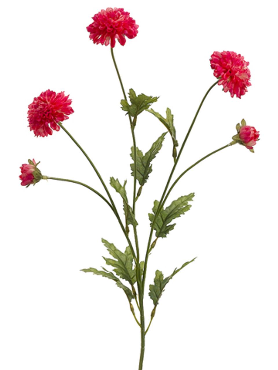 Club Pack Of 24 Artificial Red Pom Pom Mum Silk Flower Sprays 28