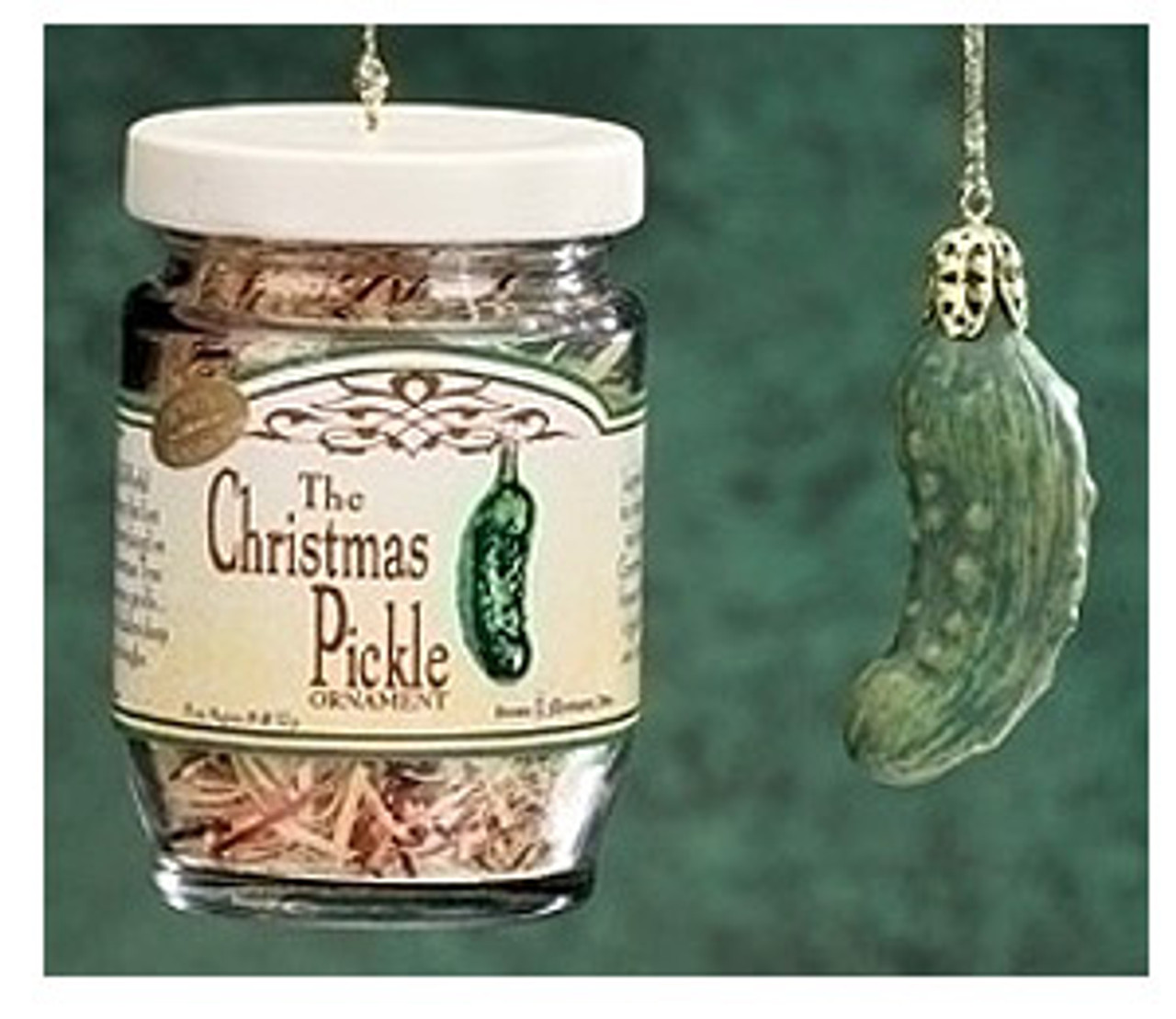 the famous german christmas pickle in glass jar holiday ornament set 7037953