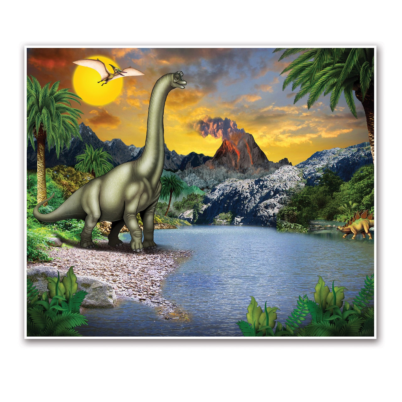 Pack Of 6 Dinosaur Fantasy World Insta Mural Wall Art Decorations 72