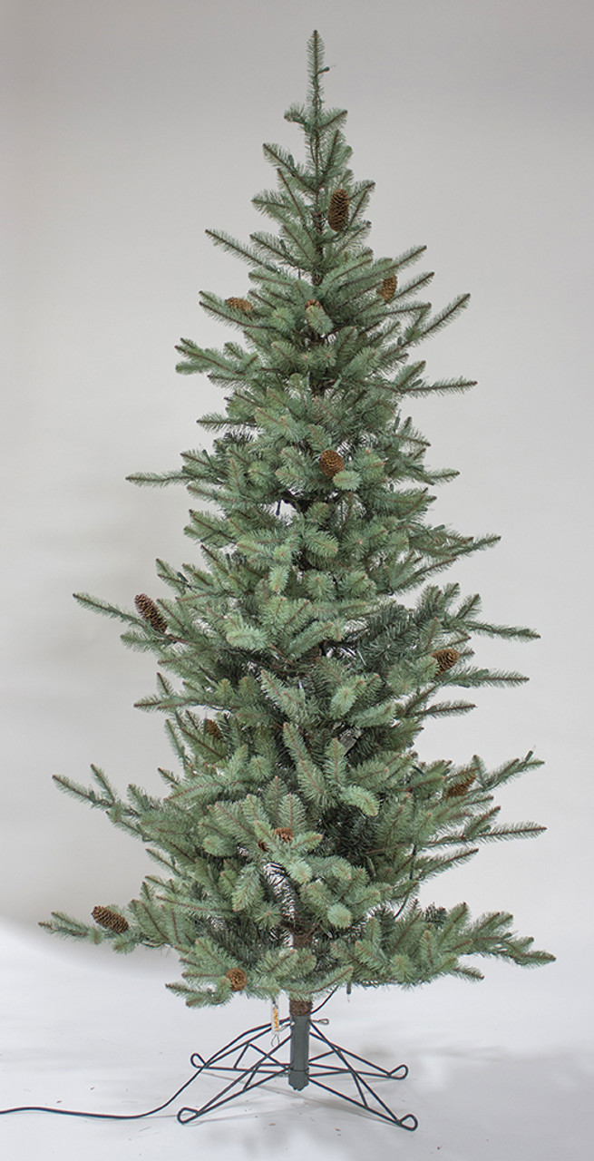 7 X 44 Pre Lit Slim Pine Artificial Christmas Tree Warm White