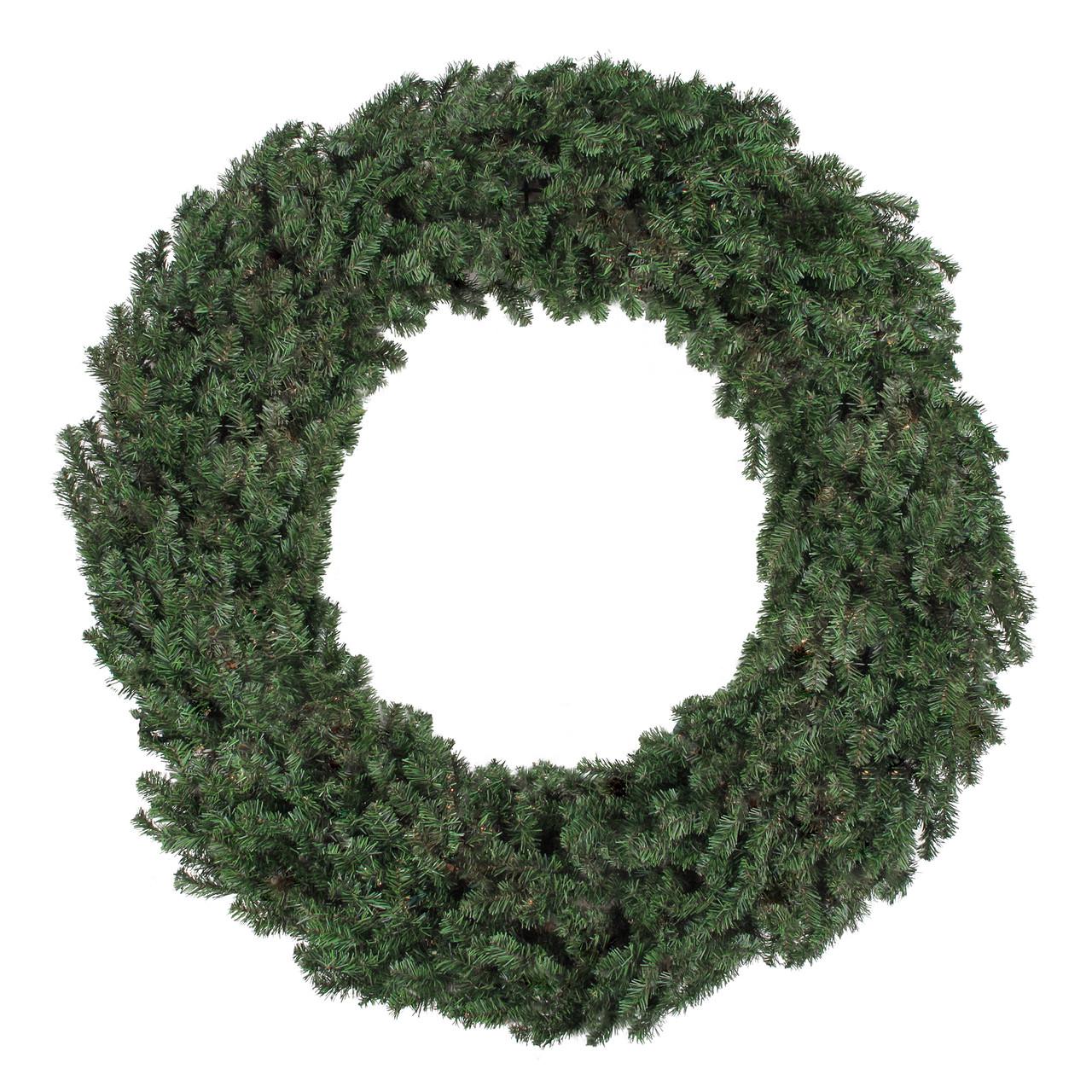 6\' Commercial Size Canadian Pine Artificial Christmas Wreath - Unlit ...