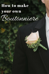 How to make your own silk flower boutonniere christmas central how to make your own silk flower boutonniere mightylinksfo