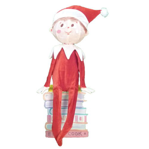 32 pre lit elf on the shelf 3 d sitting elf christmas outdoor decoration clear lights 31466400