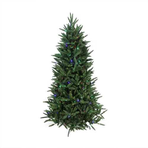 65 pre lit pepvc mixed pine multi function artificial christmas tree w remote control clearmulti 31465148