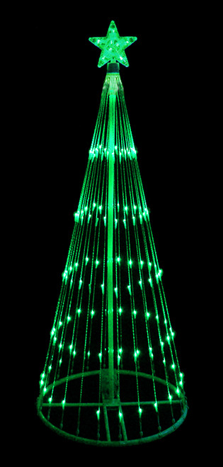 6 White Double Tier Bubble Cone Christmas Tree Lighted