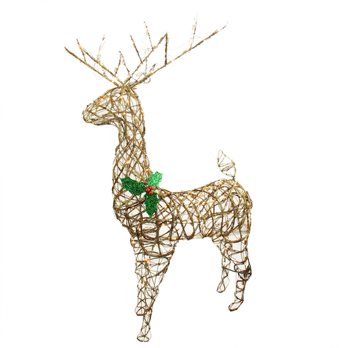 57 lighted standing grapevine reindeer christmas outdoor decoration clear lights 31601427