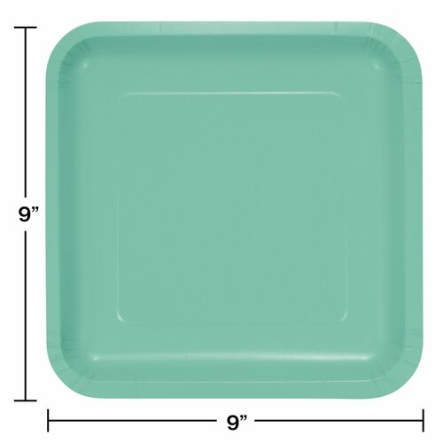 Club Pack of 180 Fresh Mint Green Premium Durable Paper Square Dinner Plates 9\  - 32039975  sc 1 st  Christmas Central & Club Pack of 240 Fresh Mint Green Premium Durable Paper Dinner ...