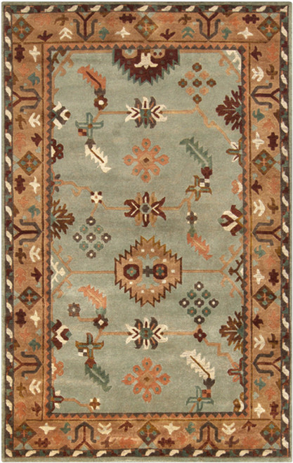 2 5 X 10 Incan Fiesta Beige Mint Green New Zealand Wool Area Rug