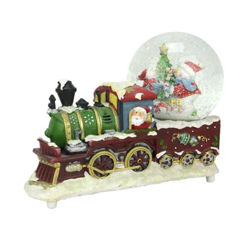 95 santa claus christmas train with snowman scene glitterdome snow globe table top decoration 31465875