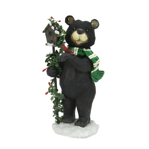 18 Quot Woodland Black Bear With Striped Scarf Amp Quot Welcome