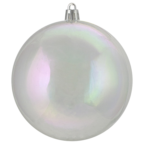 12ct clear iridescent shatterproof shiny christmas ball ornaments 4 100mm 31755264