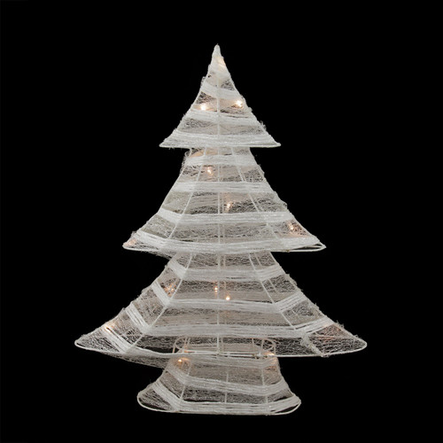 185 battery operated white and silver glittered led lighted christmas tree table top decoration 31748768 - Christmas Decorations Led Ornaments