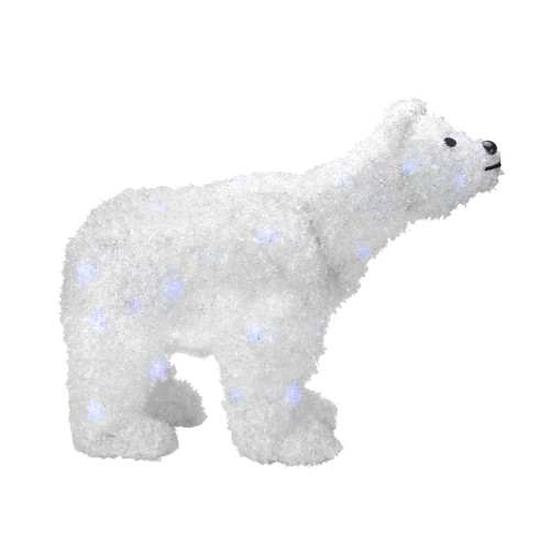 24 battery operated led lighted tinsel polar bear christmas decoration 30790770 - Pre Lit Polar Bear Christmas Decoration Set Of 3