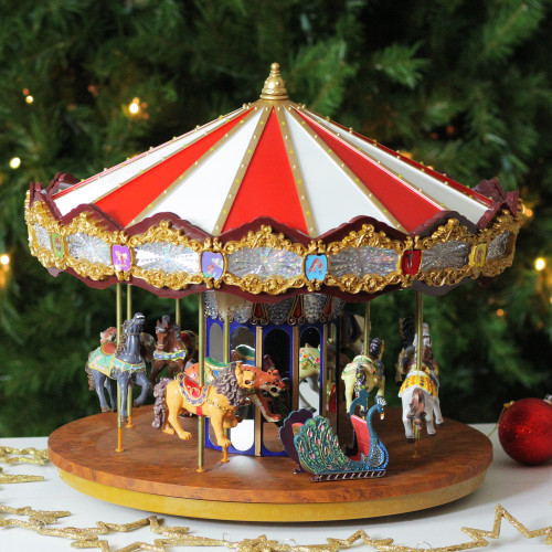 14 lighted musical christmas carousel decoration 31302617 - Christmas Carousel Decoration