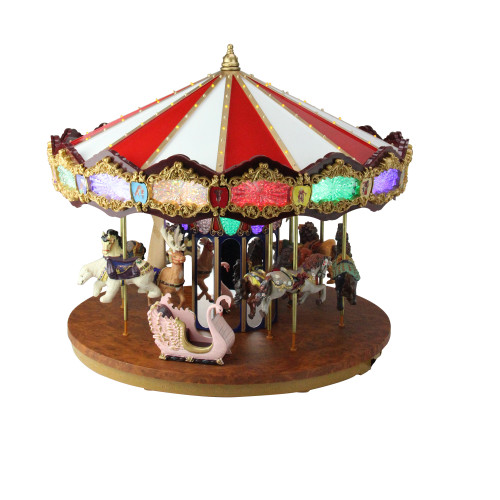 14 lighted musical christmas carousel decoration 31302617