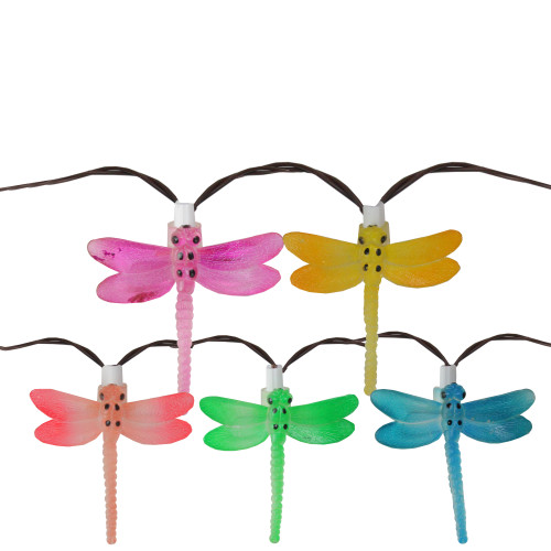 Superieur Set Of 10 Battery Operated LED Dragonfly Garden Patio Umbrella Lights With  Timer   28376897