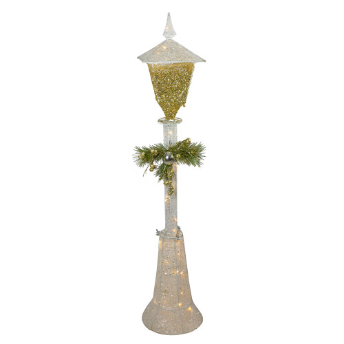 "19"" Battery Operated LED Lighted Lamp Post W/ Standing"