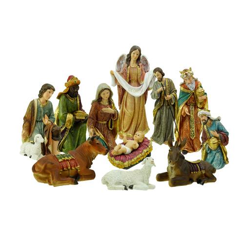 "Holy Family Admires Jesus Nativity Religious Christmas: 8"" Joseph's Studio Holy Family & Three Kings 5-Piece"