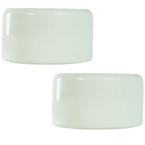 Set of 2 smooth white swimming pool ladder bumper cap plugs christmas central - Rubber swimming pool ladder bumper ...