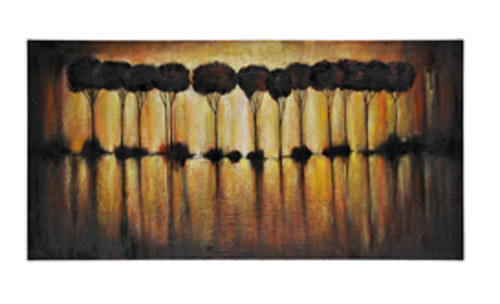 """60"""" x 30"""" Hand Painted Abstract Oil Painting on Canvas Stretched on ..."""