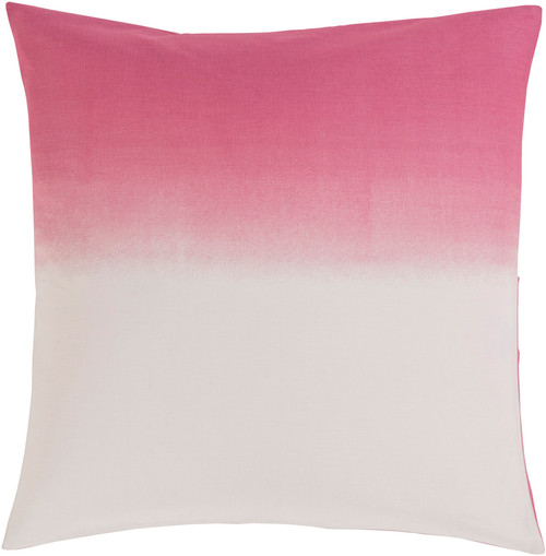 Rosy Pink Ombre Fun Cotton Decorative Euro Pillow Sham With Tie Back Simple Decorative Euro Pillow Shams
