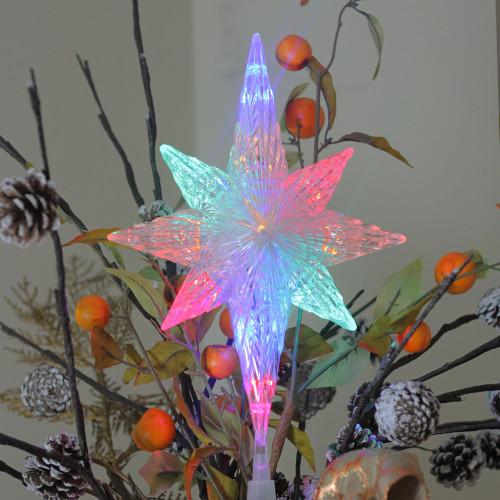 "Christmas Tree Shop Connecticut: 11"" LED Lighted Crystal Star Of Bethlehem Christmas Tree"