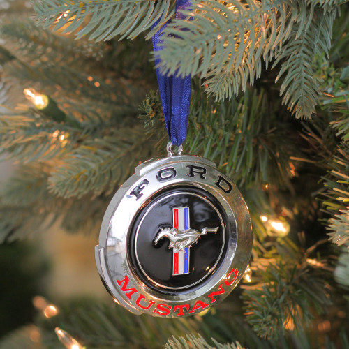 3 officially licensed ford mustang gt logo silver plated christmas ornament 32630208 - Silver Plated Christmas Tree Decorations