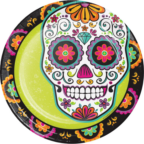 Pack of 96 Green and Black Day of the Dead Disposable Party Dinner Plate 8.75\  - 32748638  sc 1 st  Christmas Central & Club Pack of 96 Graduation Fun Confetti Disposable Dinner Plates ...