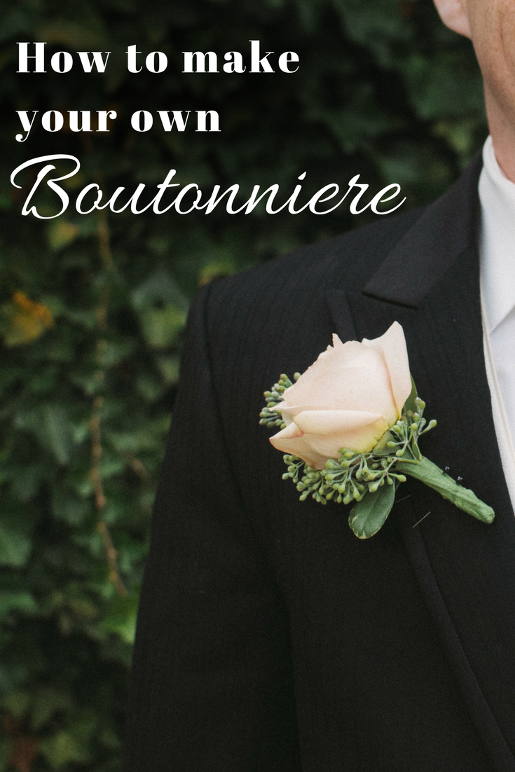 How to make your own silk flower boutonniere christmas central mightylinksfo