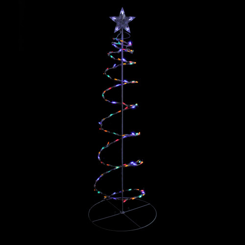 Lighted Spiral Christmas Trees Outdoor
