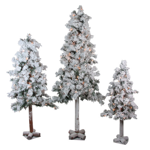 https://d3d71ba2asa5oz.cloudfront.net/22001048/images/northlight_ynt785_fk.  ... - Set Of 3 Pre-Lit Heavily Flocked Alpine Artificial Christmas Trees 3