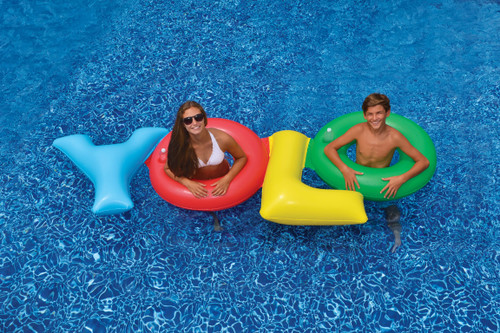 109 Quot Multi Colored Quot Yolo Quot Inflatable Novelty Swimming Pool