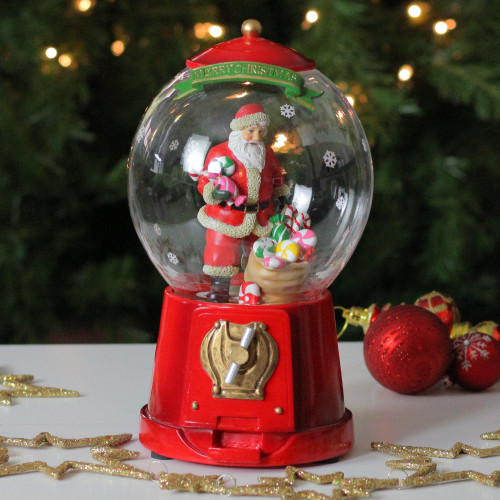 "10"" Animated & Musical Santa Gumball Machine Christmas"