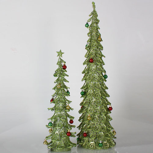 set of 2 christmas brights lime green glitter mesh christmas trees 2 39 3 39 christmas central. Black Bedroom Furniture Sets. Home Design Ideas