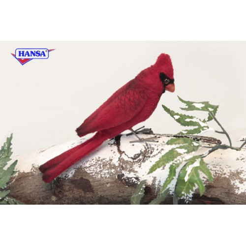 Pack Of 6 Life Like Handcrafted Extra Soft Plush Red Cardinal