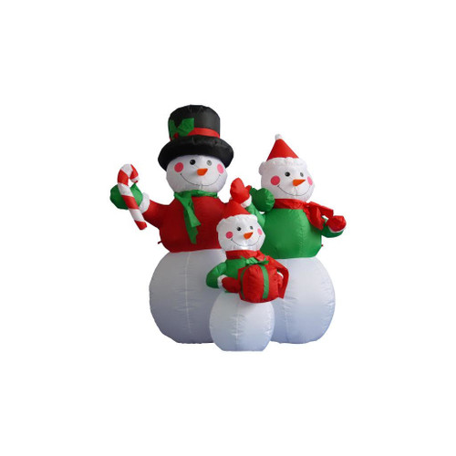 4' Inflatable Lighted Snowman Family Christmas Outdoor Decoration - 32275076 - 4' Inflatable Lighted Snowman Family Christmas Outdoor Decoration