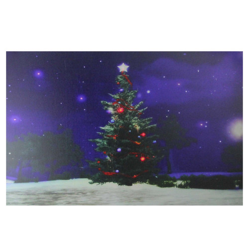 Fiber Optic Amp Led Lighted Color Changing Christmas Tree